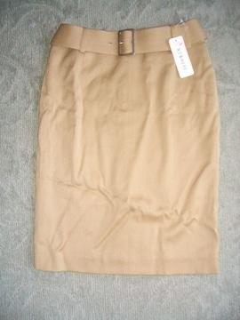 NOWHERE★スカート★ベルト付★茶★新品