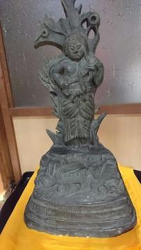 奈良時代→竜頭雷神魔王立像→台座→流波紋様銘品