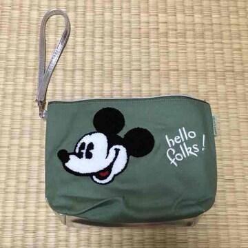 非売品付録・ミッキーマウスサガラ刺繍2WAYミニバッグ