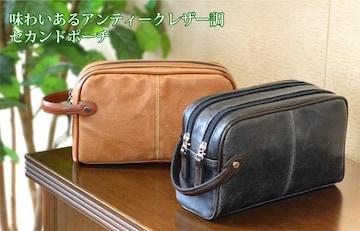 *【ランキング受賞】豊岡製セカンドバッグ レトロ調 キャメル *