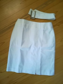 新品★白simpleスカートベルト付き