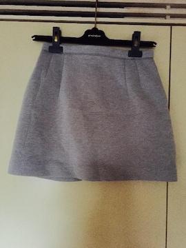 SLY ボンディング ミニスカート グレーsize2
