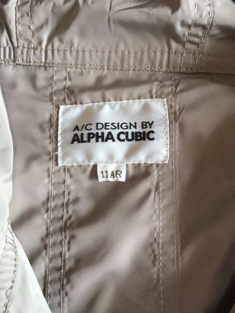 送料込み!A/C DESIGN BY ALPHA CUBIC☆春物コート11号グレー < 女性ファッションの