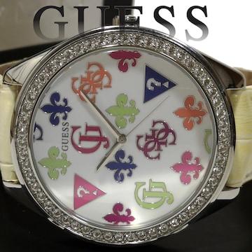 良品【箱・購入証明】1スタ★ゲス/GUESS【ジルコニア】腕時計