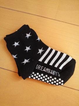 新品星靴下/黒13〜15�pドリベビBABYDOLLベビードール