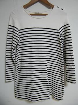 IKKA マリンボーダーチュニックワンピ/バスクシャツ