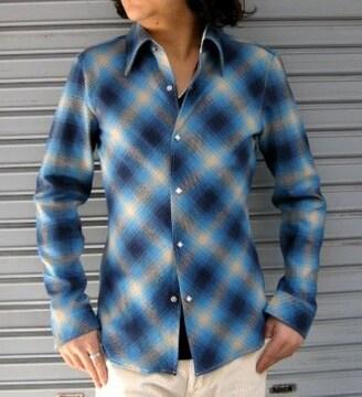送料込み ブリューテンブラット バイアスチェックシャツ S