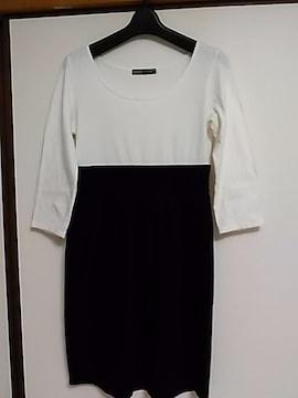 美品 白黒Tシャツワンピース CALM