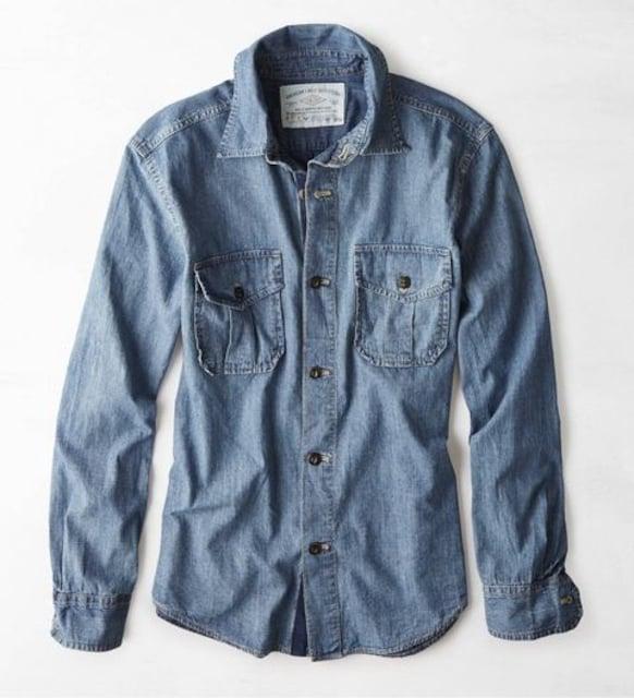 【American Eagle】Vintage AEOデニムシャツ L/インディゴ  < ブランドの
