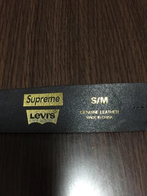 supreme×levis  belt < ブランドの