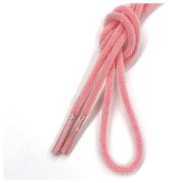 美品 普段使い ビーズ 和装小物 帯締め(ピンク)