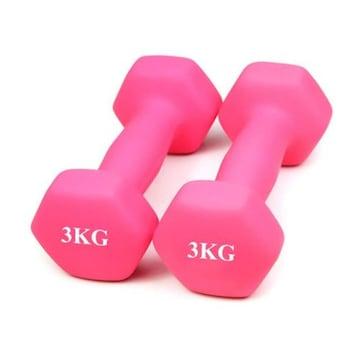 ダンベル 2個セット 3kg×2個セット /ピンク A