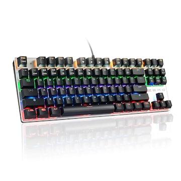メカニカルキーボード 青軸 ゲーミングキーボード 黒