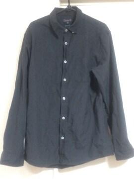 無地シャツ ビンテージブラック 長袖