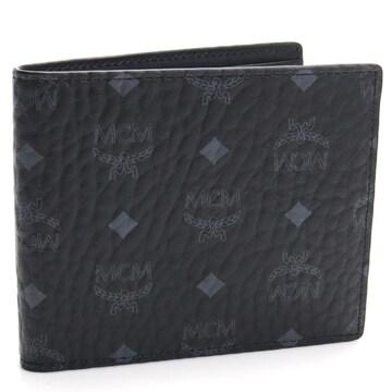 エムシーエム 二つ折り財布 MXSAAVI04 BK001 メンズ