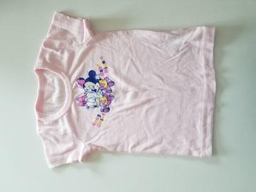 うすいピンクにドナルド模様半袖シャツ90