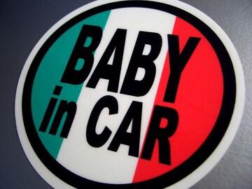 BABY in CARイタリア国旗ステッカー☆赤ちゃんが乗ってます
