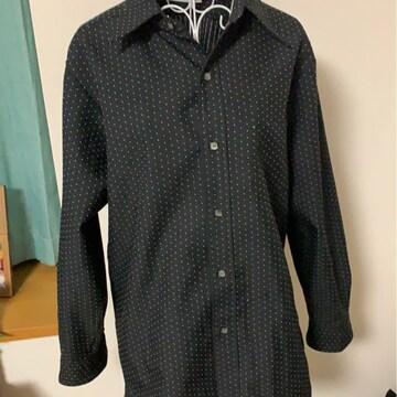 黒★ドット★カジュアルシャツ☆フリーサイズ