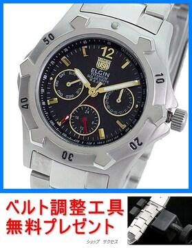 新品即買■エルジン ソーラー腕時計 FK1424TI-B★ベルト調整具付