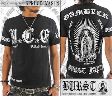 メール便送料無料【MAD BURST JAPAN】70533Tシャツ黒銀L