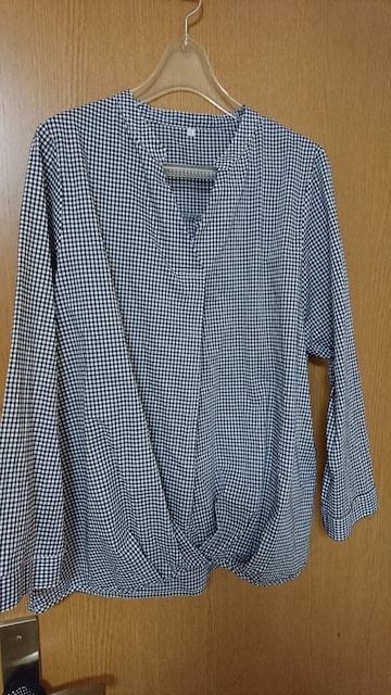 LL / 綿100%ギンガムチェックシャツ  < 女性ファッションの