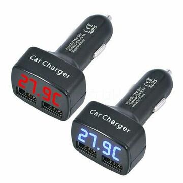 シガーライター電圧/温度/電流/3.1AUSBデュアルポート 送料無料
