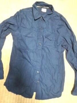 コンバース ワンスター 紺シャツ