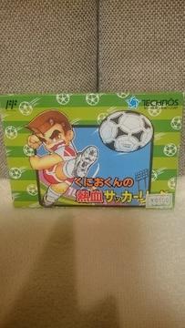 ファミコン カセットくにおくんの熱血サッカーリーグ シール付
