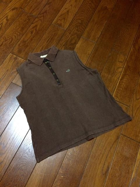 【即決】CROCODILE◆クロコダイル◆ブラウン洗練スキッパー  < 女性ファッションの