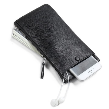 長財布 牛革使用 スマホケース 付き 薄型
