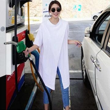 Y58即決 新品 ロング Tシャツ 白 L リップサービス GU セシル ユニクロ 好きに