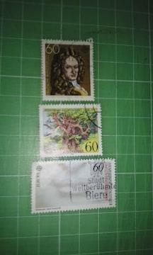 旧西ドイツ記念60切手3枚♪