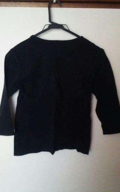 ビジュー付きTシャツ黒 < 女性ファッションの