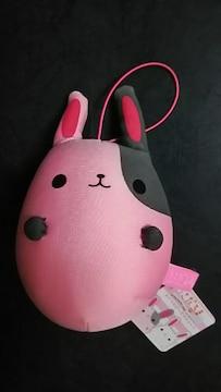 【ピンク】 うさだるま ぬいぐるみ マスコット マイクロビーズ入 非売品