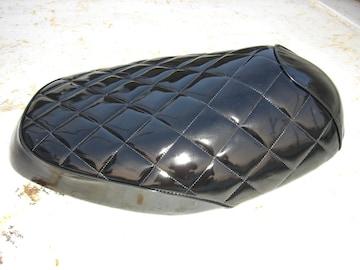 ジャイロUP TA01 シートカバー エナメル 黒