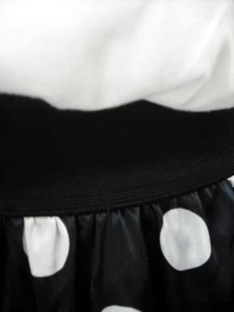 【Pinky Girls】白/黒の異素材ミニワンピースです < ブランドの