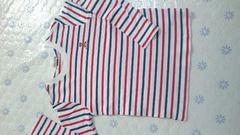 ミキハウス 赤青ボーダーTシャツ 120 MIKIHOUSE