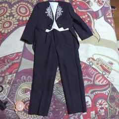 キッズブラック スーツ3点セット 七五三・お祝い・結婚式等に
