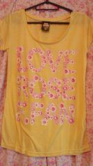 ローズファンファン〓花プリントロゴTシャツ