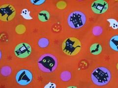 ルシアン ハロウィン黒猫かぼちゃ50×110