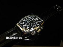新品 腕時計 クロノグラフ風ブラック/フランクミュラー好きに
