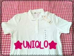 新品!!ユニクロ♪ホワイト♪ポロシャツ☆
