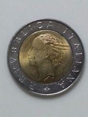 イタリア  500リラ硬貨 1993年 バイメタル 流通品