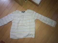 ベージュ系の長袖シャツ【130�a】