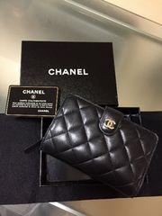 1円 ◆正規品◆箱付き! 良品 ◆ シャネル ◆ マトラッセ 財布 黒