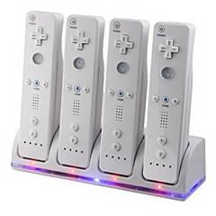 Wii / Wii U リモコンバッテリー 充電器 2800mAh×4 ホワイトa