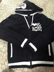 RONI・白ラインパーカー・黒L