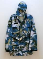 実物官給品 中国軍07式海軍陸戦隊用海洋迷彩戦闘服上下セット