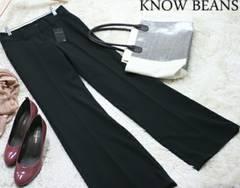 KNOW BEANS/新品未使用/ブラック/黒/スラックス/パンツ/定価6,930円/38