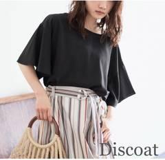 Discoat【新品タグ付き】ボリュームスリーブブラウス Black黒